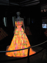 "Photo ""electronic led light dress at the museum of science and industry in chicago"" by Flickr user David Hilowitz"