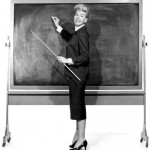 Historic Chalk Board and teaching stick