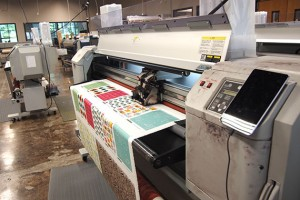 Fabric printer at Spoonflower