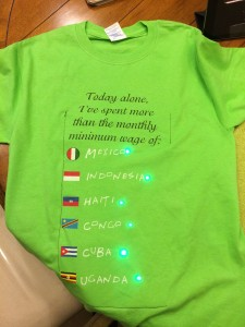 The finished Money Shirt, front.