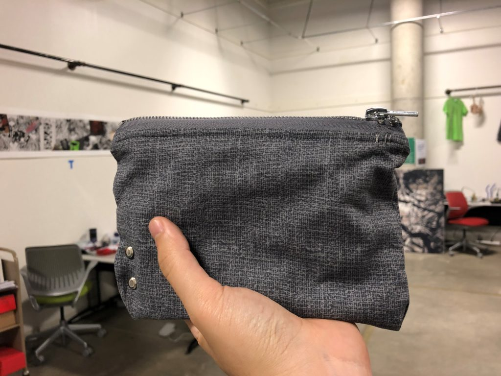 Figure 1.1: A view of the pouch from the outside